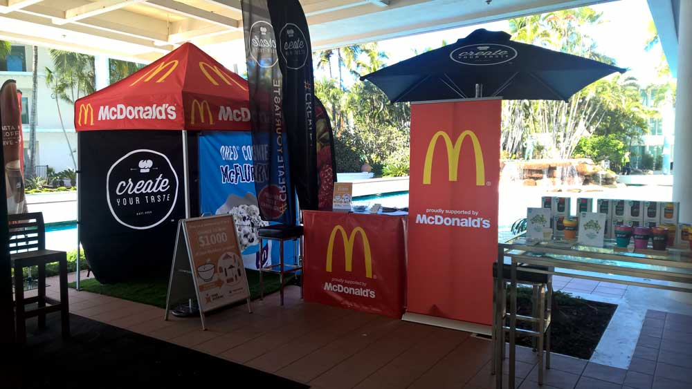 Abcom staff at the McDonalds Franchisee Convention